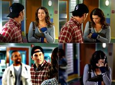 laurengrahamm:  Luke sees Lorelai's engagement ring (to Christopher) for the first time. (7.08, Introducing Lorelai Planetarium)