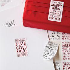 christmas carol stickers