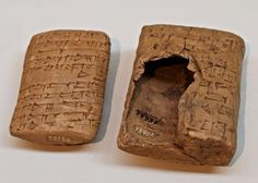 Clay tablet and envelope.....