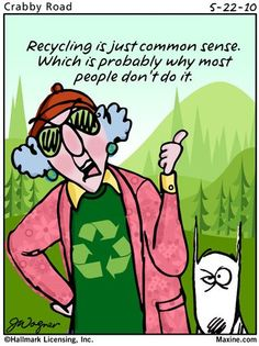Maxine on recycling