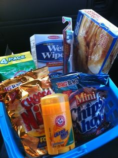 Blessing Kit. Keep it in the car for the homeless.