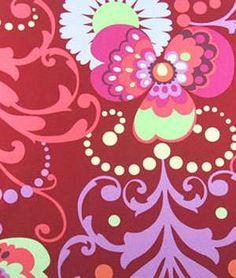 Amy Butler Paradise Garden Wine Fabric
