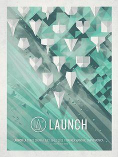 studio, graphic designers, launch la, geometric designs, event posters, poster designs, paper planes, design layouts, design posters