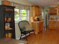 Primitive Country Decorating Ideas | primitive country decorating ideas | Clean Country Kitchen, ... | HOME