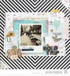 #papercraft #scrapbook #layout.  Lilith's scrapbooking venture: Solo Trip