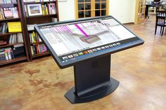 The multitouch drafting table by Ideum, a new take on the mechanical desk.