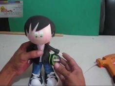 FOFUCHO MOTOCICLISTA CHAQUETA Y CASCO EN FOAMY PARTE 2 DE 2 Artfoamico Moldes l - YouTube