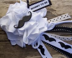 Mustache Corsage Mommy To Be Corsage or Bridal by BloomingParty, $14.00