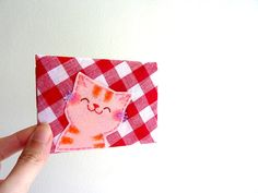 Cat Card Case, ID Card Case, Business Card Case - Smiling Kitty