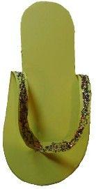 Paper Flip Flop Sandal Craft for burning bush story.