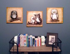 Project Nursery - JennyDaleDesigns Owl Nursery Art