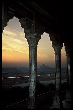 India, Sunrise over the Taj Mahal by BoazImages