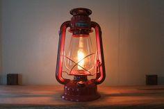DIY electric hurricane lamp