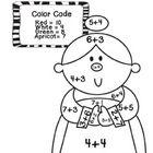8 Christmas themed math coloring sheets!