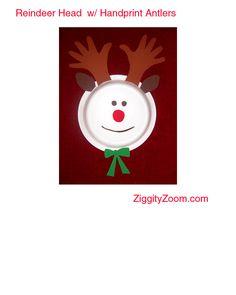 handprint/paper plate reindeer