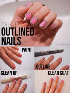 OH SO PRETTY the DIARIES: manic MANI MONDAY: OUTLINED NAILS