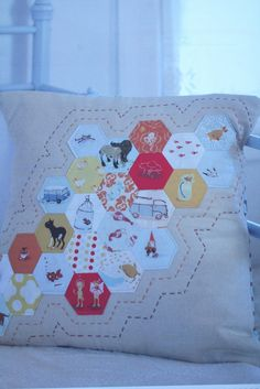 I SPY hexagon pillow.  So cute!