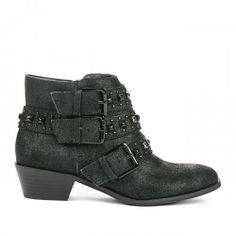 ankle boots, detail booti, black stud, ankl boot, harley boot, stud detail, stapl