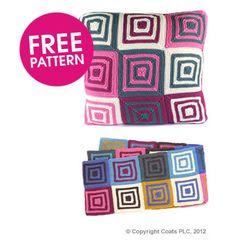 rowan cushion and scarf.  free pattern.  knit along. deramores.