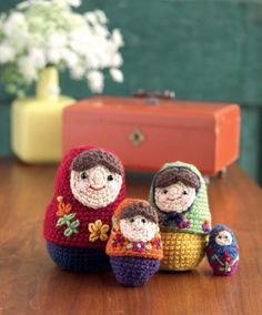 Matryoshka nesting dolls crochet-a-long with Petals to Picots during August 2013