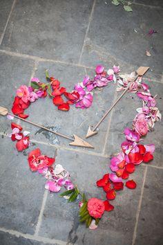 Happy Valentine's Day! photo by Obscura Photoworks http://ruffledblog.com/cupids-arrow-valentines-day-inspiration #valentinesday #valentine #wedding