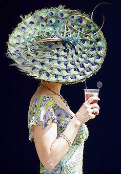 Kentucky Derby 2012  Like the peacock hat look? http://www.louisvillegainesrealestate.com/derbytime-in-louisville/