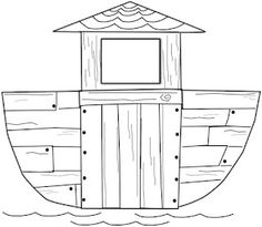 Free: Template for Noah's Ark Craft From Charlotte's Clips and Kindergarten Kids.