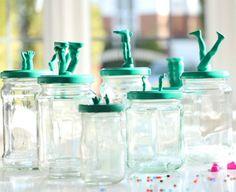 DIY Kitschy Storage Jars tutorial