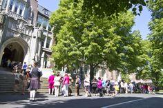 Sunday morning alumni procession