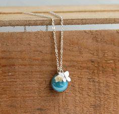 Robin EGG BLUE Charm Necklace