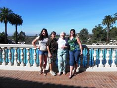 One family - Three Generations at the Coliseum Pool at Pelican Hill | www.pelicanhill.com |The Resort at Pelican Hill, Newport Beach, CA | #pelicanhillresort #family #memories