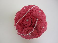 SOLA flower kissing ball  Berry Pink by SuperiorCraftSupply