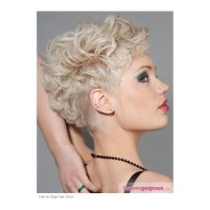 Glam Curly Mohawk Hair Style Short Hairstyles pictures ❤ liked on Polyvore