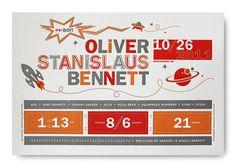 Oliver Bennett's Birth Announcement