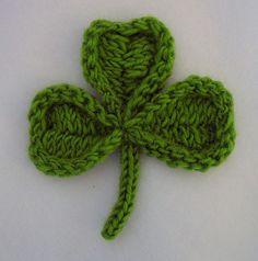 knit shamrock