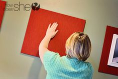 mat the outside of frames with fabric covered board