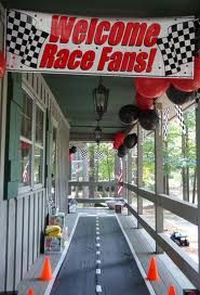 Race Car themed party