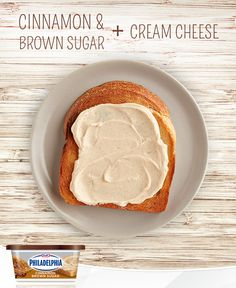 Do your kids love cinnamon toast? Upgrade their favourite after school snack by spreading a little PHILADELPHIA Cinnamon Brown Sugar Cream Cheese on a slice of toasted bread instead. It makes a quick and easy snack with only 2 ingredients.