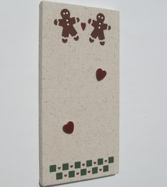 Gingerbread Man Bulletin Board with Heart Push Pins by PegsBoards, $14.00