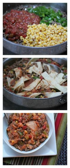 Gluten Free Beef Tamale Skillet Dinner ~ on the table in less than 30 minutes! | 5DollarDinners.com
