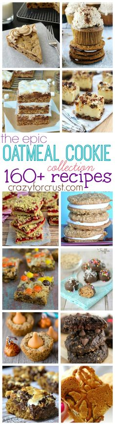 Over 160 Oatmeal Cookie Recipes | crazyforcrust.com
