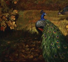 Photo gallery of President Packer's artwork (pictured: Peacocks and Autumn Leaves)