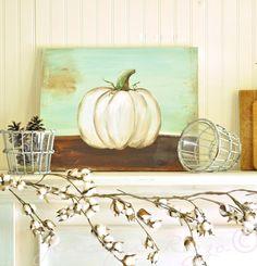 Pumpkin canvas DIY.How to paint a pumpkin canvas, art skills not required!!!