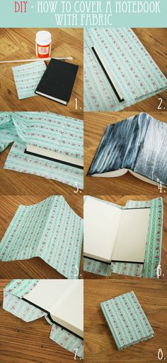 how to cover a notebook with fabric