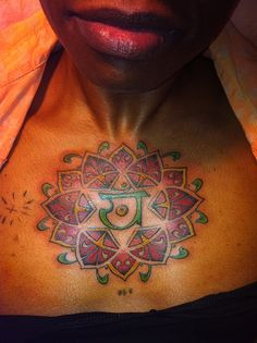 colored tattoos on black skin
