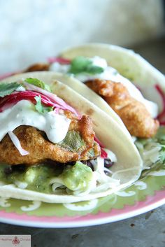 Fried Avocado Tacos by Heather Christo, via Flickr    Who knew you could fry avocados? Yum.