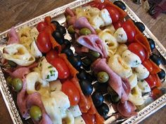 Making these Antipasto Kabobs for Easter dinner.
