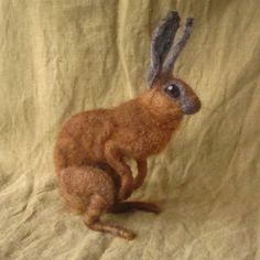 needle felted bunny.