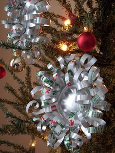 How to Make Soda Can Bows/Ornaments ..I think I will try this for use on my outdoor tree.