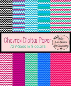 Chevron Background Clip Art digital papers, clipart, background